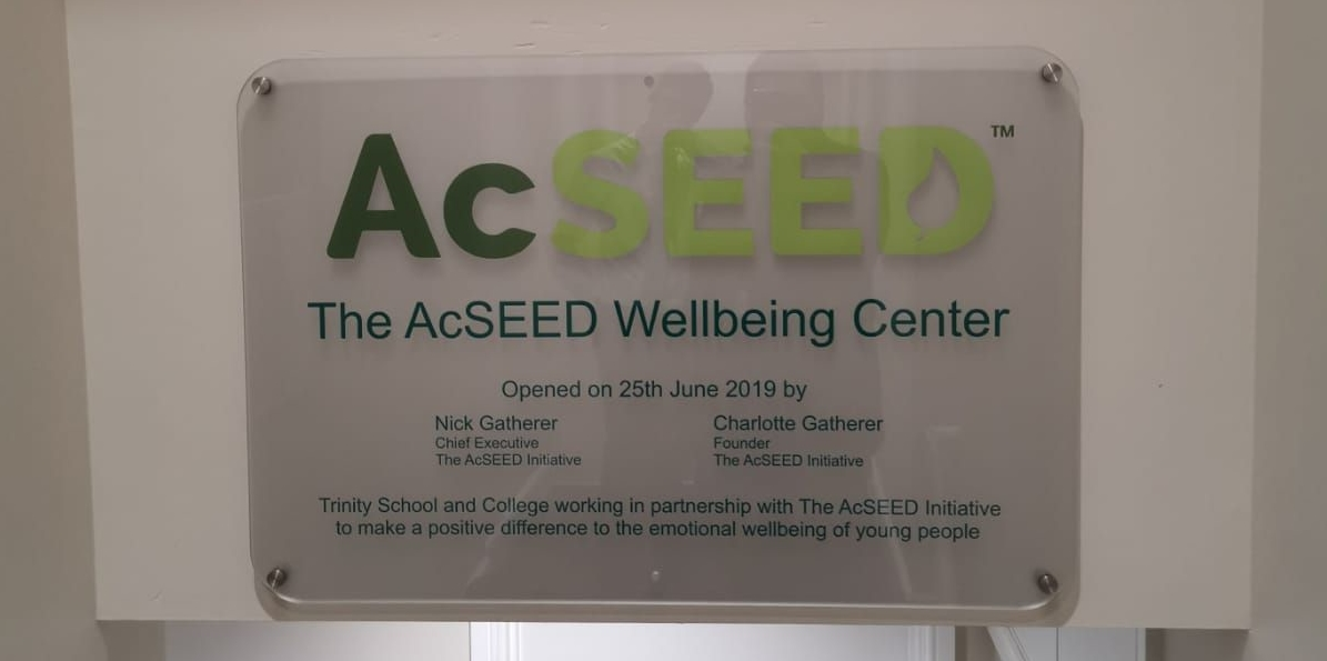 Trinity Wellbeing Centre Plaque